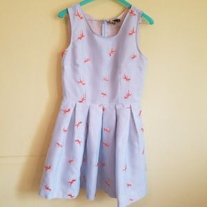 Modcloth Good as Goldfish embroidered dress sz 8